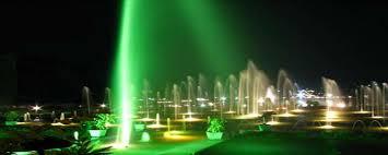 KRS Garden illuminated