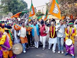 Celebration time at BJP Camp