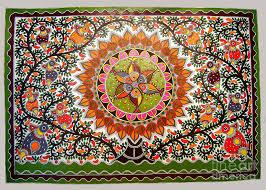 Intricate Madhubani Painting