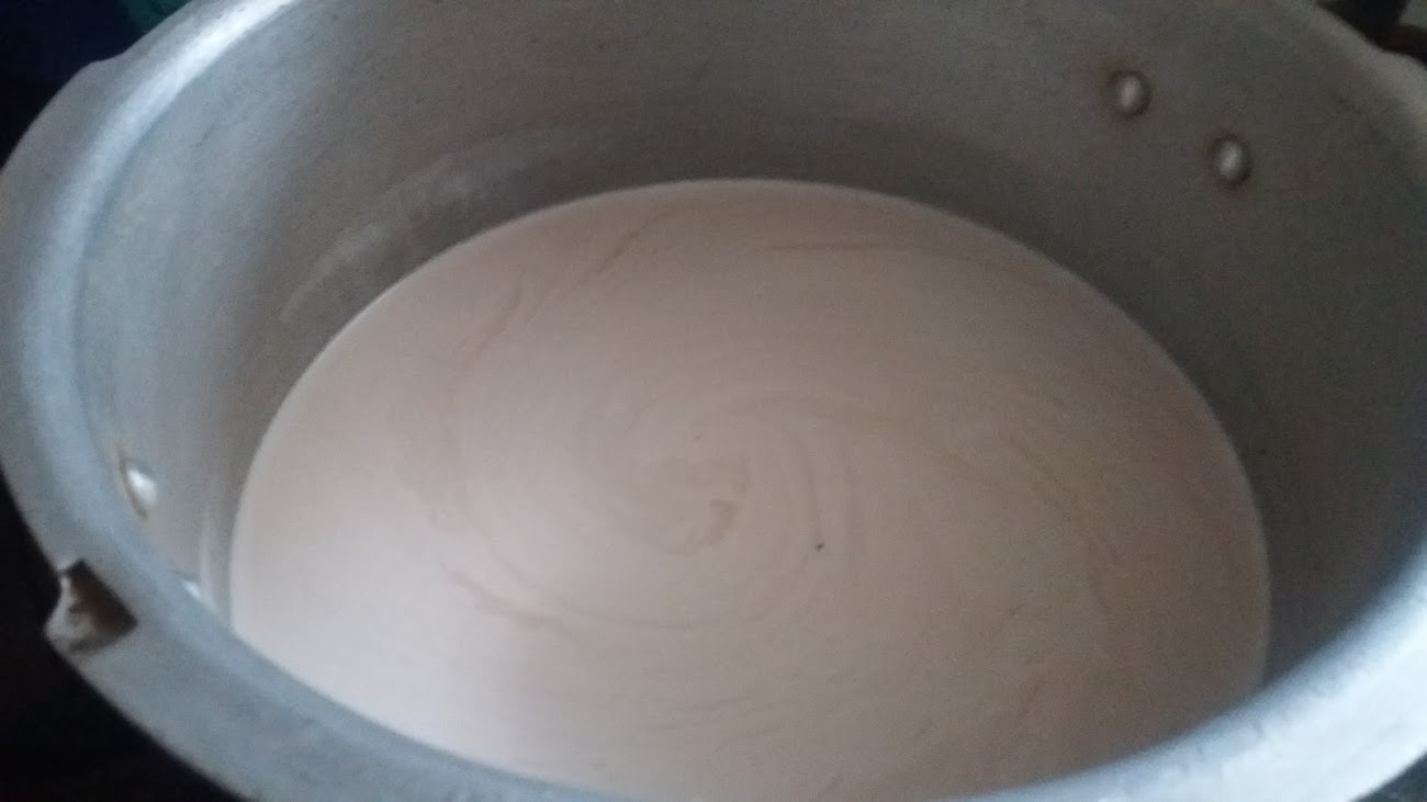 The milk extract ready to cook