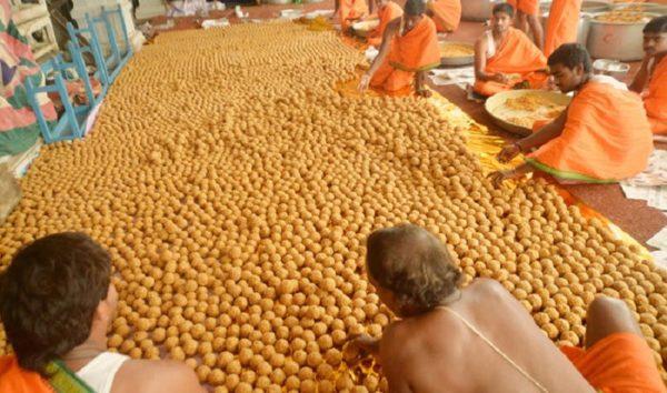 Laddu Preparation at Temple