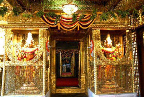 Inside view of the Temple
