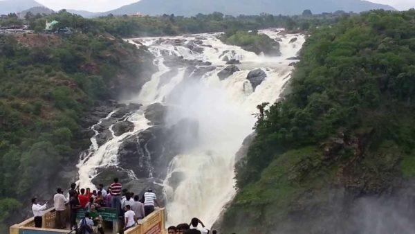 Roaring Shivanasamudra Falls