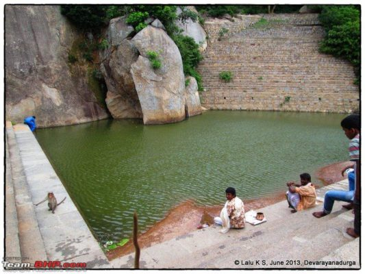 Water body atop Hill at Devarayanadurga