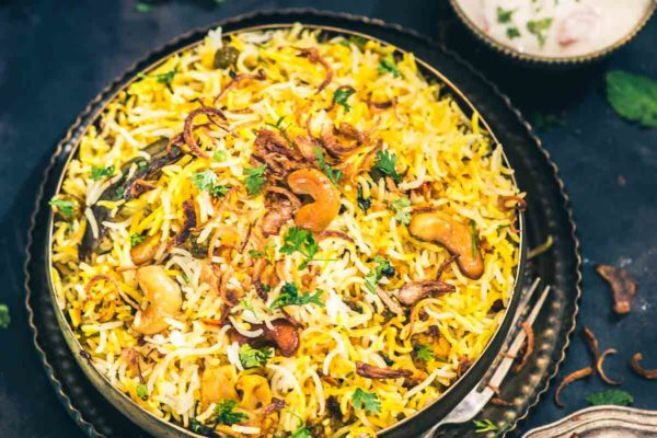 Delicious Hyderabadi Biryani