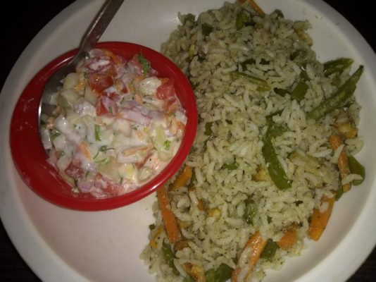Pulao and Raita - Ready to Eat