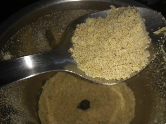 Dry grind the fried ingredients
