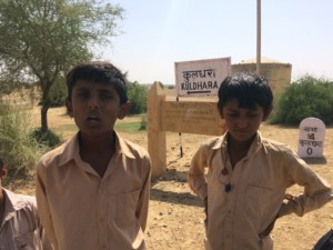 Local lads ready with the story about Kuldhara